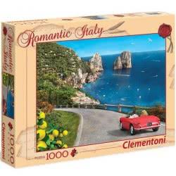 Clementoni Παζλ 1000τεμ. Romantic Italy Ιταλία Καπρι 1220-39357 8005125393572