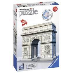 Ravensburger Puzzle 3D 216Pc Arc De Triomphe 12514 4005556125142