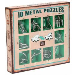 Professor Puzzle 10 Metal Puzzles - Πράσινο Σετ 10-G 5425004733573