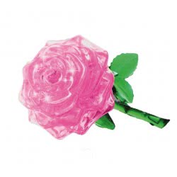 Professor Puzzle 3D Crystal Puzzle: Pink Rose, 44Pcs 90213 4893718902133