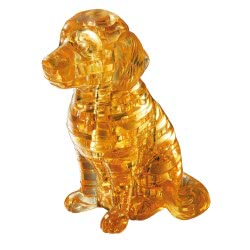 Professor Puzzle 3D Crystal Puzzle: Golden Retriever, 41κομ. 90118 4893718901181