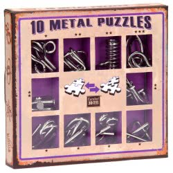 Professor Puzzle 10 Metal Puzzles - Purple Set 10-P 5425004733597