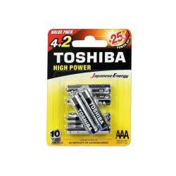 TOSHIBA Αλκαλικές Μπαταρίες AAA High Power Value Pack4+2 Δώρο 152624 4904530592614