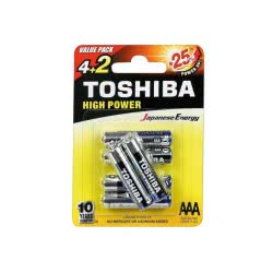 Toshiba Αλκαλικές μπαταρίες AAA High Power Value Pack4+2 Δώρο 0291638 4904530592614