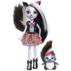 Mattel Enchantimals Doll And Animal Sage Skunk And Caper DVH87 / DYC75 887961408775