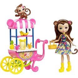 Mattel Enchantimals Doll And Animal Friend With Vehicle Fruit Cart FJH11 / FCG93 887961450323