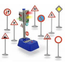DICKIE TOYS Dickie Σήματα κυκλοφορίας και Φανάρι κυκλοφορίας City Traffic Lights 203741001 4006333039287