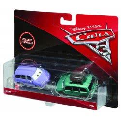 Mattel Disney/Pixar Cars 3 Minny And Van Vehicles, Pack Of 2 DXV99 / DXW06 887961403701