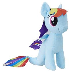 Hasbro My Little Pony The Movie Rainbow Dash Sea-Pony Λούτρινο B9820 / C2705 5010993394821
