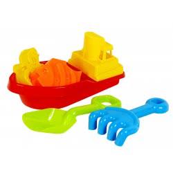 As company Σετ παραλίας με πλαστική βάρκα, φτυαράκι, τσουγκράνα - 2 σχέδια 5007-20078 5203068200787