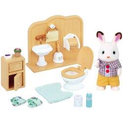 Epoch Sylvanian Families Σετ Chocolate Rabbit Αγόρι και Σετ Μπάνιου Brother Set 5015 5054131050156