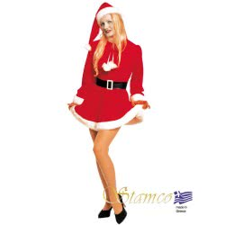 Stamco Xmas Costume Girl of Santa Claus Adult One size 441ΧΑΓ 5221275907695