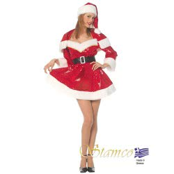 Stamco Xmas Costume Girl of Santa Claus Adult One size 441107 5221275907558