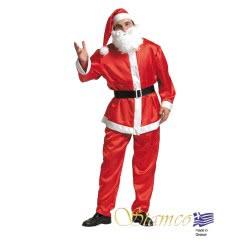 Stamco Xmas Στολή Άγιος Βασίλης Σατέν Ενηλίκων One size 442214 5221275907572