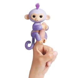WowWee Fingerlings Glitter Monkey Kiki - Μωβ 3762 / 3760A 771171137627