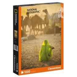 Clementoni Παζλ 1000τεμ High Quality National Geographic Ινδή Με Πράσινο Σάρι 1260-39302 8005125393022