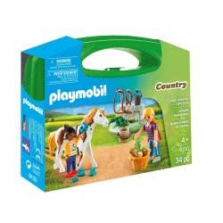Playmobil Βαλιτσάκι Φροντίζοντας τα άλογα 9100 4008789091000