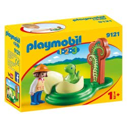 Playmobil Εξερευνήτρια με νεογέννητο δεινοσαυράκι 9121 4008789091215