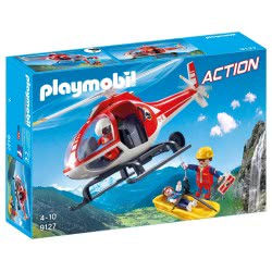 Playmobil Mountain Rescue Helicopter 9127 4008789091277