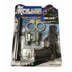 Toys-shop D.I Σετ Αστυνομικού Όπλα Police Squad Action Set JY026599 6990416265992