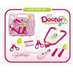 Toys-shop D.I Ιατρικά Εργαλεία Σε Ροζ Βαλιτσάκι Doctor Set JU033557 6990416335572