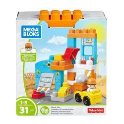 MEGA BLOKS Fisher-Price Εργοτάξιο Σετ Παιχνιδιού Με 2 Φιγούρες DKX85 / FFG33 887961485134