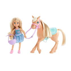 Mattel Barbie Club Chelsea: Chelsea And Pony DYL42 887961416510