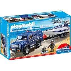 Playmobil Αστυνομικό Όχημα Με Ταχύπλοο 5187 4008789051875