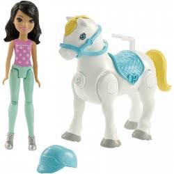 Mattel Barbie On The Go - Βολτίτσες Κουκλίτσα Και Πόνυ, Μωβ Και Πράσινο Φόρεμα FHV60 / FHV64 887961529678