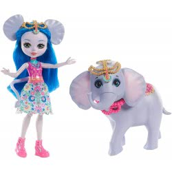 Mattel Enchantimals - Ekaterina Doll & Elephant Friend FKY72 / FKY73 887961553505