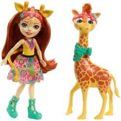Mattel Enchantimals - Gillian Giraffe Κούκλα & Μεγάλο Ζωάκι Φιλαράκι FKY72 / FKY74 887961553512