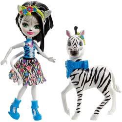 Mattel Enchantimals - Zelena Κούκλα & Μεγάλο Ζωάκι Φιλαράκι FKY72 / FKY75 887961553482
