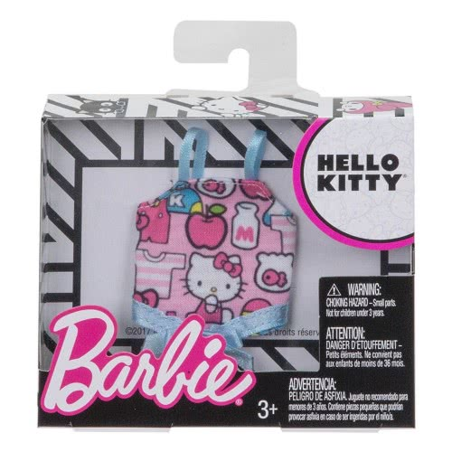 d0a35f193 Mattel Barbie Fashions Hello Kitty Pink Print Tank FLP40 / FLP42  887961603279