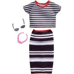 Mattel Barbie Fashion Βραδινά Σύνολα, Striped Top And Skirt FND47 / FKR97 887961551556