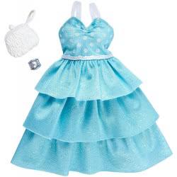 Mattel Barbie Fashion Mint Polka Dot Ruffle Gown FND47 / FKT09 887961551181