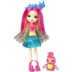 Mattel Enchantimals Πίκι Παπαγαλίτσα Κούκλα & Ζωάκι Φιλαράκι FNH22 / FJJ21 887961537659