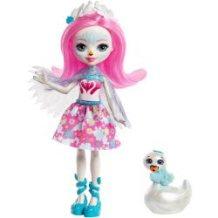 Mattel Enchantimals Saffi Κύκνος Κούκλα & Ζωάκι Φιλαράκι Poise FNH22 / FRH38 887961625646
