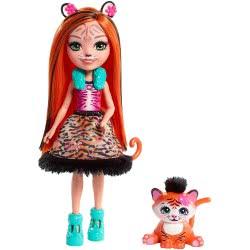 Mattel Enchantimals Κούκλα Tanzie Tiger και Ζωάκι Φιλαράκι Tuft FNH22 / FRH39 887961625660