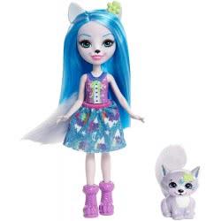 Mattel Enchantimals Κούκλα Winsley Wolf και Ζωάκι Φιλαράκι Trooper FNH22 / FRH40 887961625653
