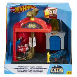 Mattel Hot Wheels City Βασικές πίστες: downtown fire station spinout FRH28 / FRH29 887961625615
