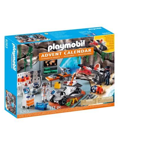 Playmobil Χριστουγεννιάτικο Ημερολόγιο - Εργαστήριο της Spy Team 9263 4008789092632