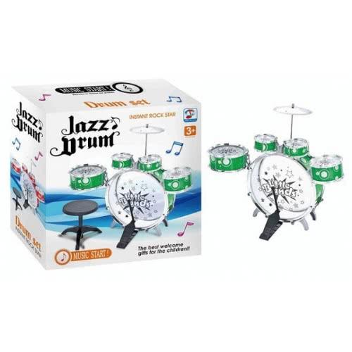 Toys-shop D.I Jazz Drum Ντραμς Σετ με σκαμπό Instant RockStar JM022570 5262088225705