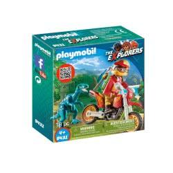 Playmobil Εξερευνητής Με Motocross Και Μικρό Δεινόσαυρο 9431 4008789094315
