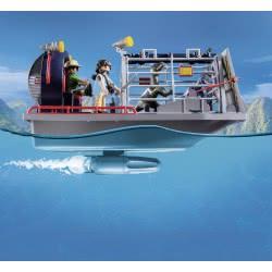 Playmobil Ταχύπλοο Λαθροκυνηγών Με Κλουβί Δεινοσαύρων 9433 4008789094339