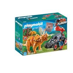 Playmobil Όχημα Λαθροκυνηγών Και Οικογένεια Τρικεράτωψ 9434 4008789094346