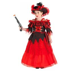 CLOWN Παιδική στολή Πειρατίνα Όνειρο(Red Pirate) No.06, Κόκκινη 847 5203359847066
