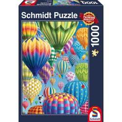 Schmidt Παζλ 1000 τεμ. Πολύχρωμα μπαλόνια ζεστού αέρα στον ουρανό 58286 4001504582869