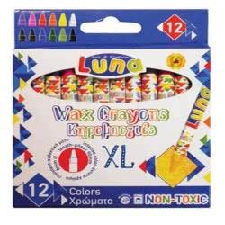 Diakakis imports Luna Wax Crayons 12 pcs 00620449 5205698223785