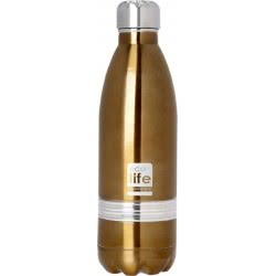eco life Stainless Steel INOX Water Bottle Double Walled 750ml, Bronze 33-BO-3003 5208009001133