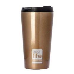 eco life Stainless Steel Coffee Bottle 370Ml, Bronze 33-BO-4002 5208009001157